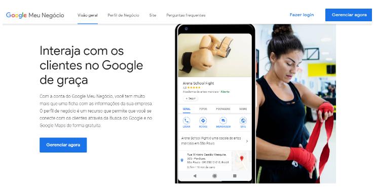 O Google Meu Negócio é uma ferramenta gratuita que permite criação de fichas de informações de estabelecimentos, que serão exibidas no Google.